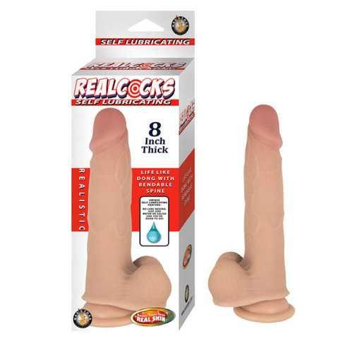 "Realcocks Self Lubricating 8"" Thick-Fles"