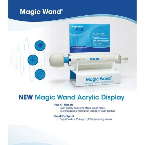 Magic Wand Acrylic Display with Tester