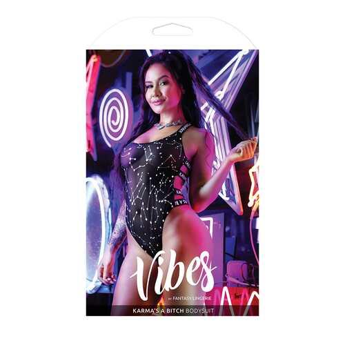 Vibe Karma A Bitch  Bodysuit Blk L/XL