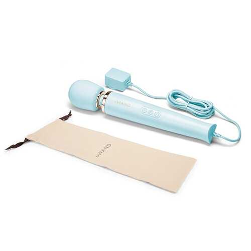 Le Wand Plug-In Vibrating Massager Blue