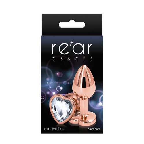 Rear Assets Rose Gold Heart Small Clear