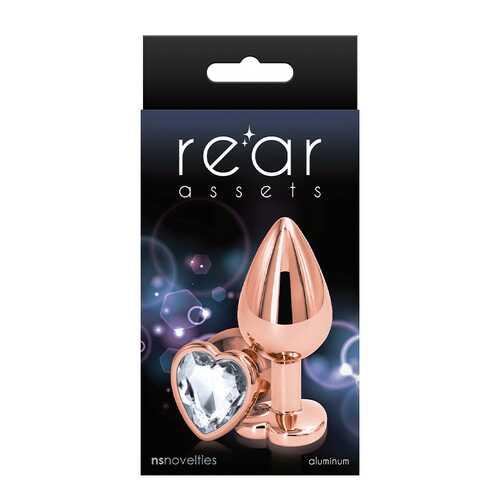 Rear Assets Rose Gold Heart Medium Clear