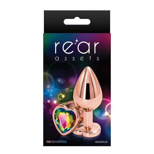 Rear Assets Rose Gold Heart Med Rainbow