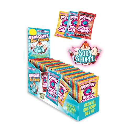 Pop Rock Candy Soda Shoppe 36pc Display