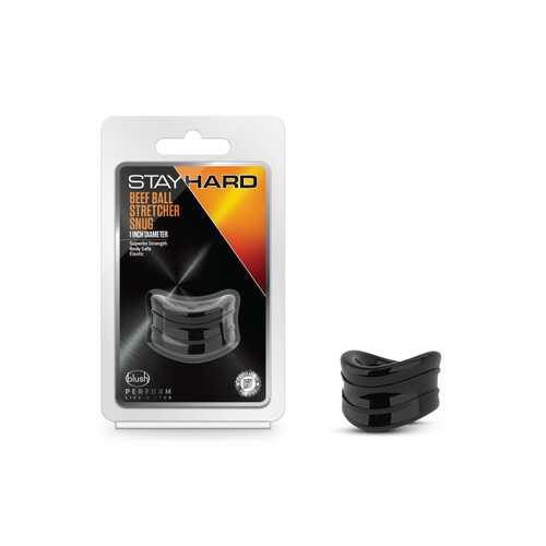 "Stay Hard Beef Ball Stretcher 1"" Black"