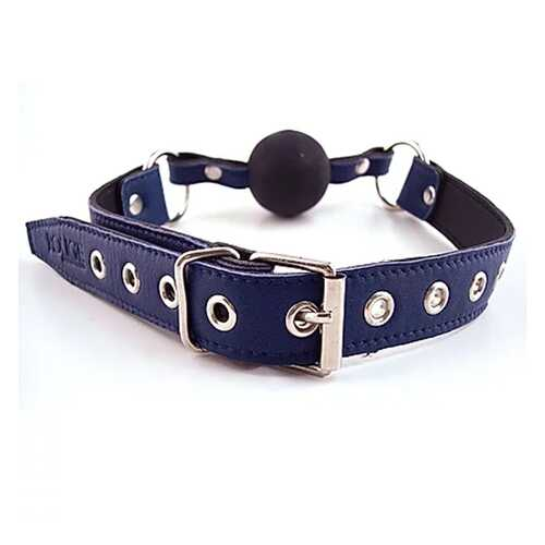 Ball Gag - BLUE with BLACK rubber Ball