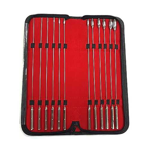 Stainless  12 Piece Rosebud Dilator Set