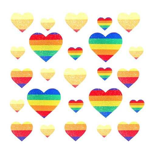 Neva Nude Pastie Pride Heart Set