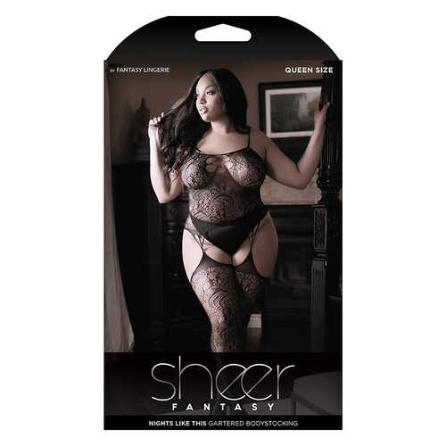Sheer Nights Garter Bodystock Cutout QN