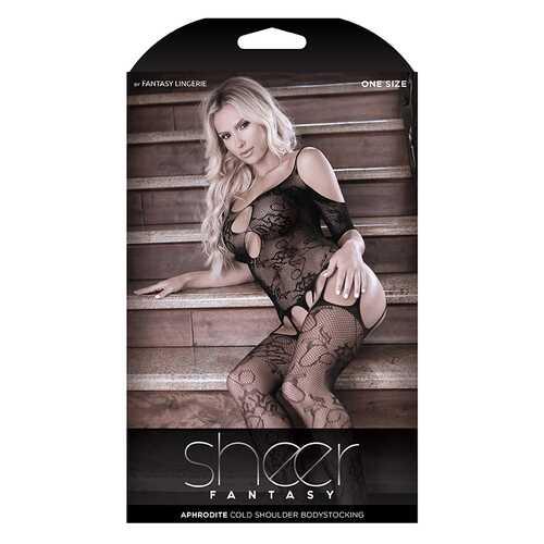 Sheer Aphrodite Floral Garter B/Stock OS