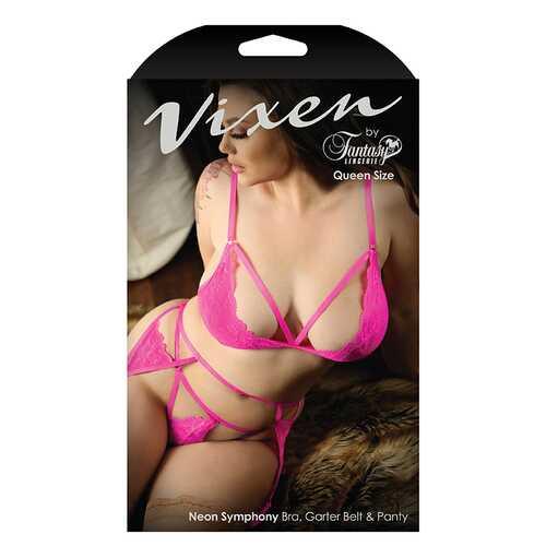 Vixen Neon Symphony Bra/GarterBelt Pty Q