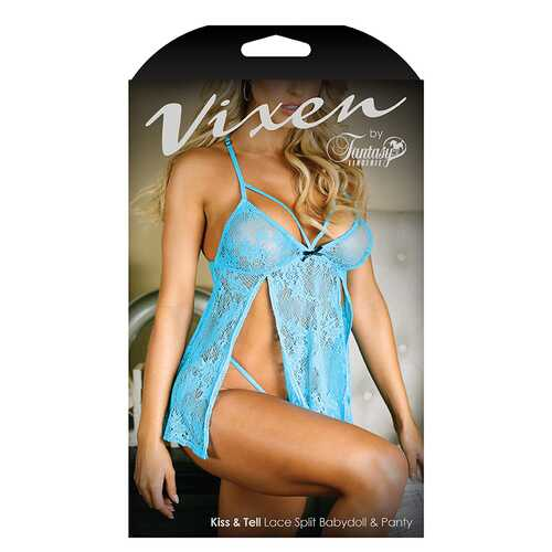 Vixen Kiss And Tell Babydoll/Panty  L/XL