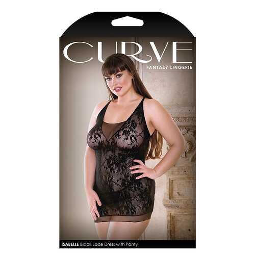 Curve Isbella Black Dress w/ Panty 1x/2x