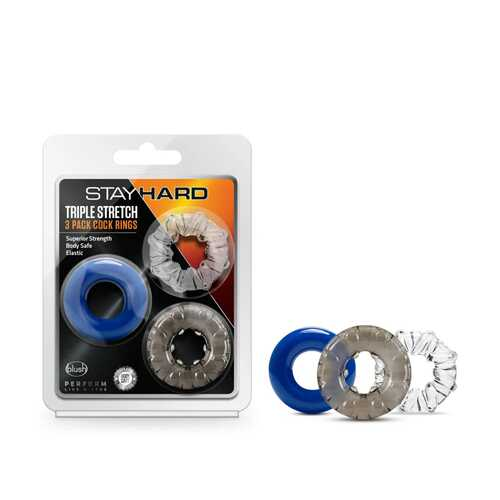 Stay Hard Triple Stretch 3pk Cock Rings