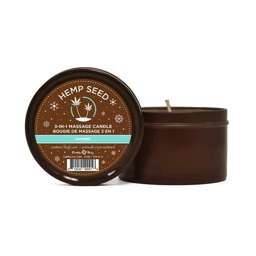 EB Hemp Seed Holiday Candle Shivers 6oz