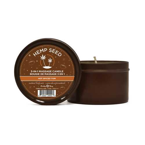 EB Hemp Seed Holiday Candle Hot Spice Yu
