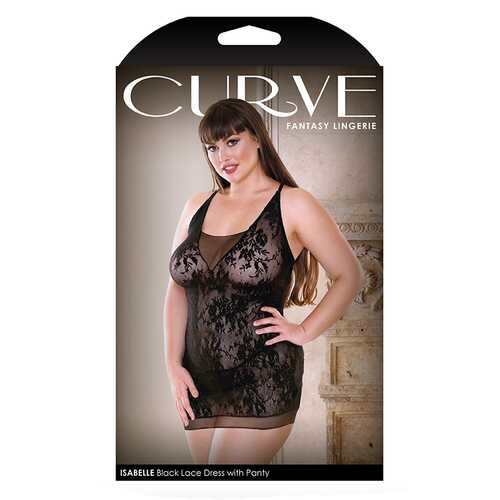 Curve Isbella Black Dress w/ Panty 3x/4x
