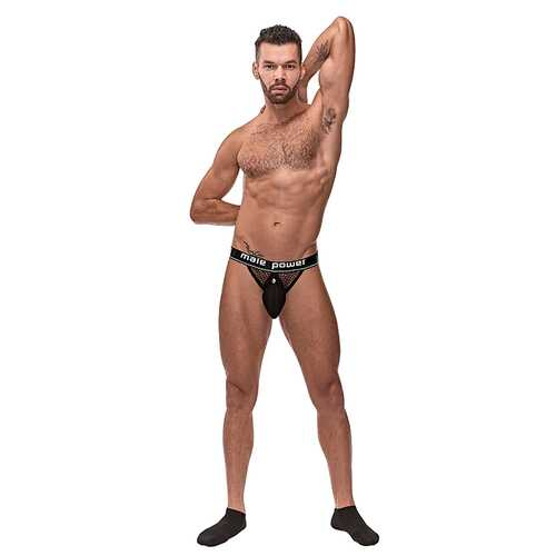 MP Cock Pit Net Cock Ring Jock Blk SM