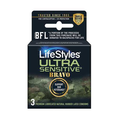 Lifestyles Ultra Sensitive Bravo 3 Pack
