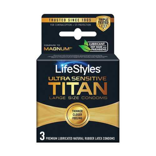 Lifestyles Ultra Sensitive Titan 3 Pack