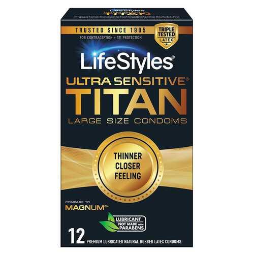 Lifestyles Ultra Sensitive Titan 12 Pack