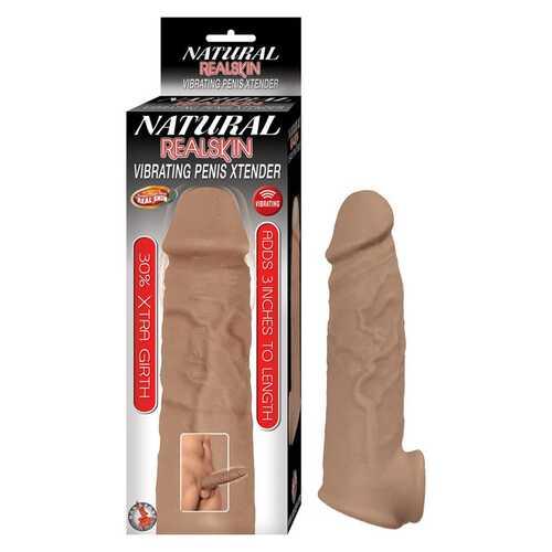 Natural Realskin Vibrat Penis Xtender Br