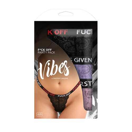 Vibe Fuck Pack 3pk Lace Thong Pany  Os