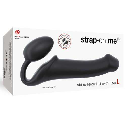 Strap-On-Me Semi-Real Bend Strap-On Bk L