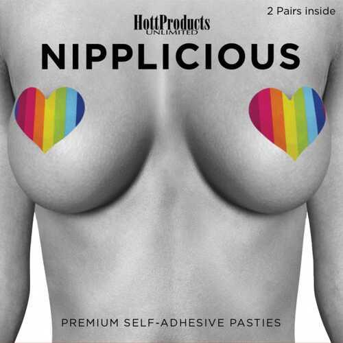 Nipplicious Rainbow Pasties Hearts&Lips