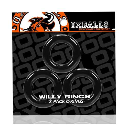 Oxballs Willy Rings 3-Pack Cockrings Bk
