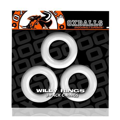 Oxballs Willy Rings 3-Pack Cockrings Wh