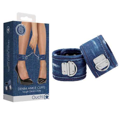 Ouch Denim Ankle Cuffs  Blue