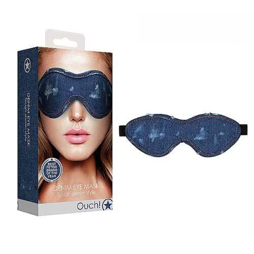 Ouch Denim Eye Mask  Blue