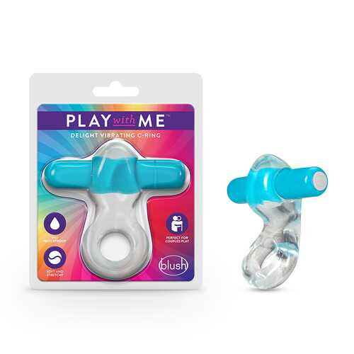 Play with Me Delight Vibrating CRing Blu