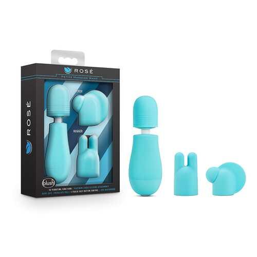 Rose - Petite Massage Wand Blue