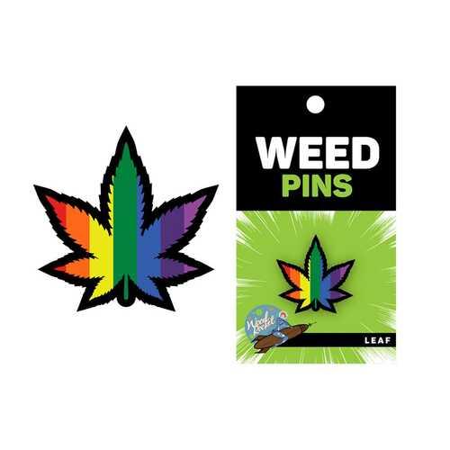 Weed Pin Rainbow Marijuana Leaf