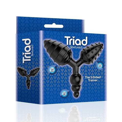 The 9's Triad 3 Way Butt Plug Textured