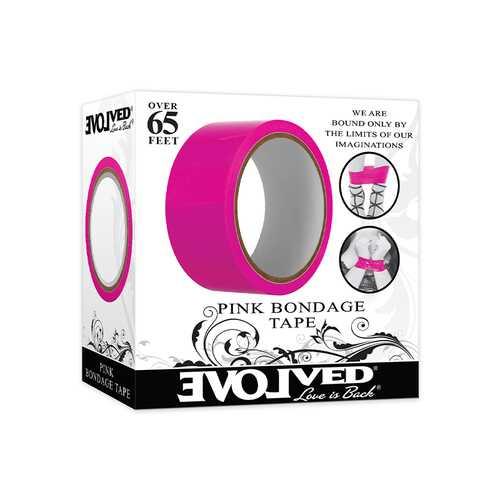 Evolved Red Bondage Tape 65ft Pink
