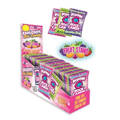 Popping Rock Candy Bonus Fruit 42pc DP