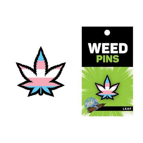 Weed Pin Trans Flag Leaf