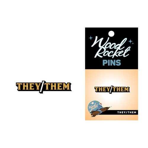 Pronoun  They/Them Pin