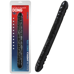 Veined Double Header Dong 18in. (Black)
