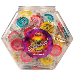 Asst. Colored Condoms 144 Bowl