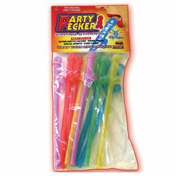 Party Pecker Straws. Asst. Color (10/Bg)