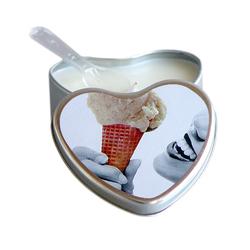 EB Massage Candle Edible Vanilla 4oz Hrt