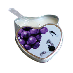 EB Massage Candle Edible Grape 4oz Heart
