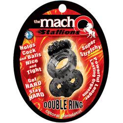 Macho Vibrating Double Ring (Black)
