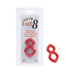 Crazy 8 Cock Ring (Red)