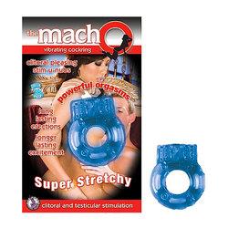 Macho Vibrating Cockring (Blue)