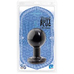 Ball Shape Anal Plug Large (Black)